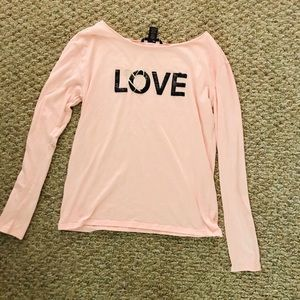 Pink Victoria's Secret Pink black sequin Top